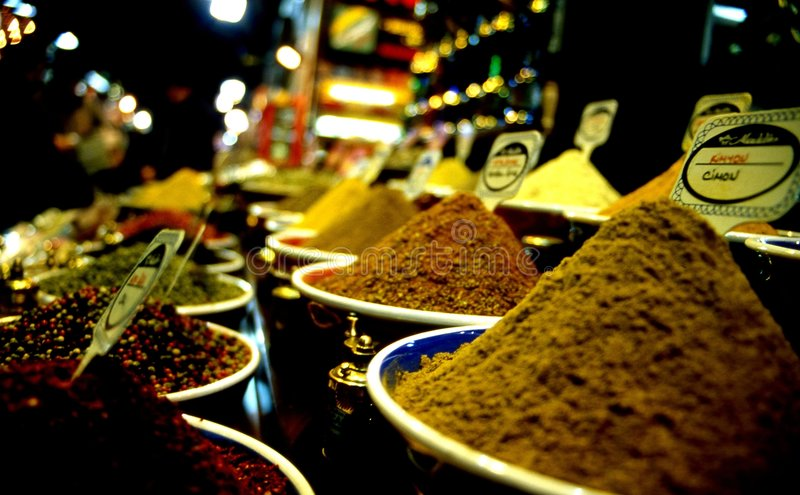 Spices. Bazzar in istanbul stock photos
