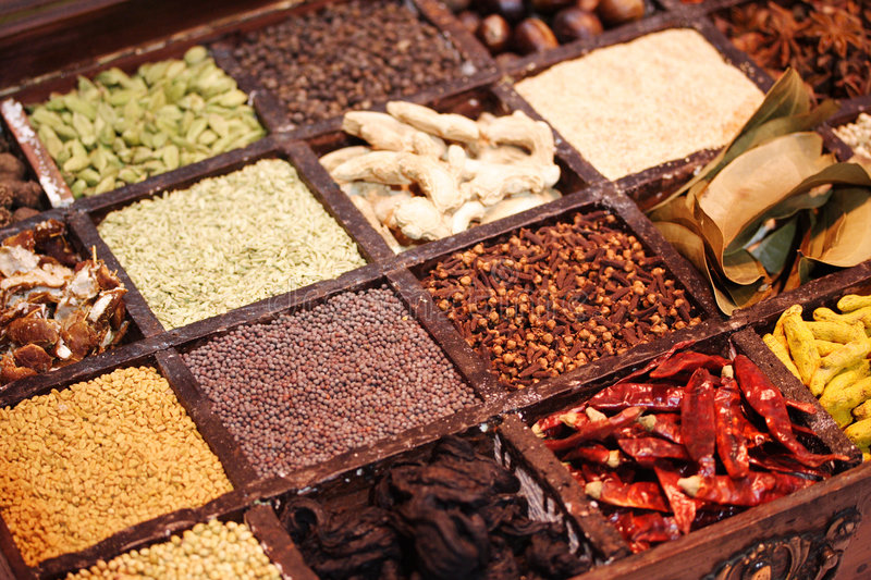Download Spices stock photo. Image of dill, savory, curry, chillies - 7103248