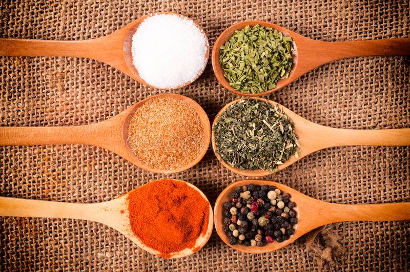 Download Spices above stock photo. Image of above, food, cooking - 33170332