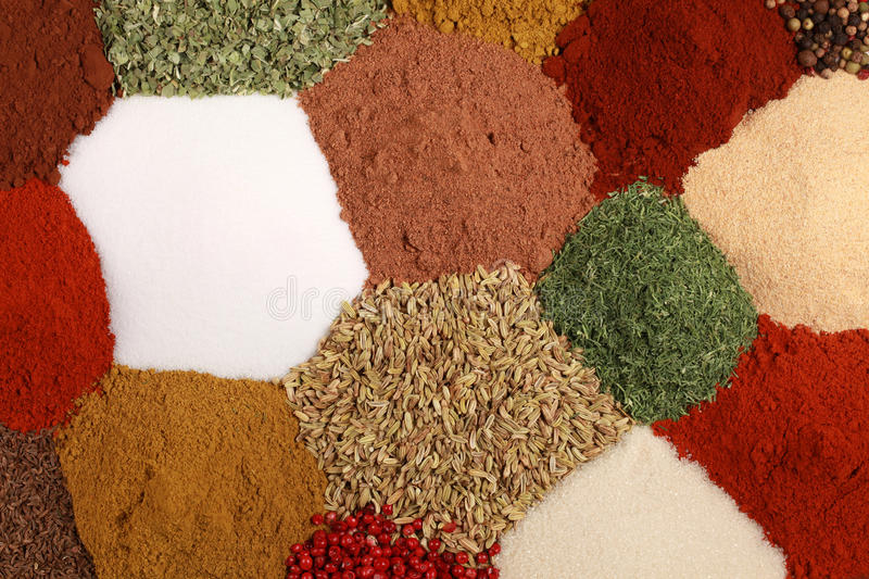 Download Spices background stock photo. Image of salt, cuisine - 25893406