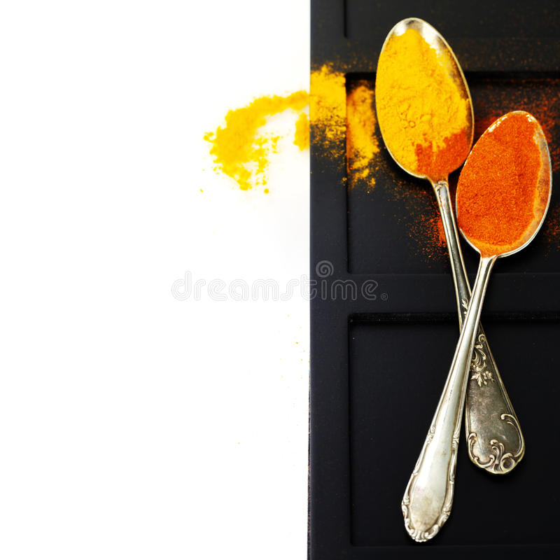 Download Spices border. on white stock photo. Image of pepper - 28584714