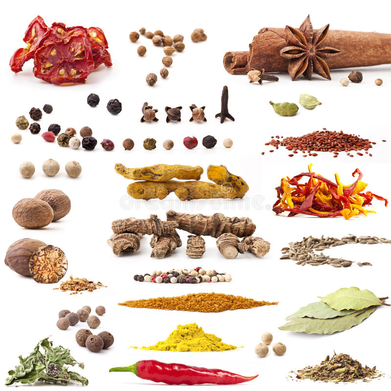 Free Spices Collection Royalty Free Stock Photo - 22534895