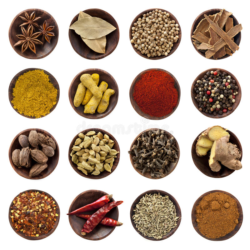 Free Spices Collection XXXL Royalty Free Stock Image - 14861036