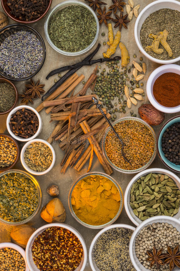 Spices and Dried Herbs stock image