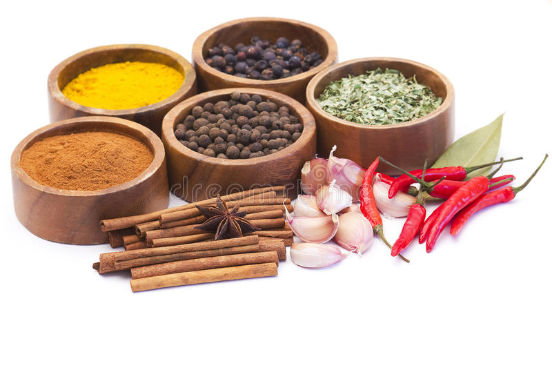Spices and flavorings royalty free stock photo