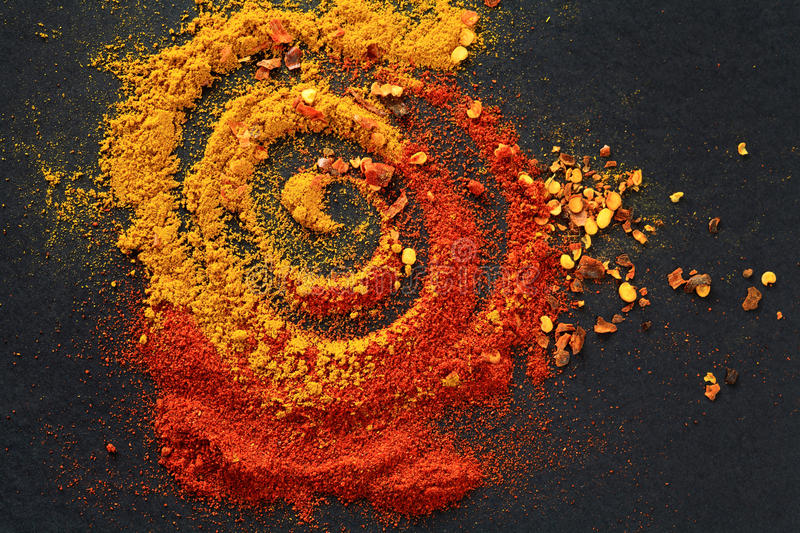 Spices for food stock photography