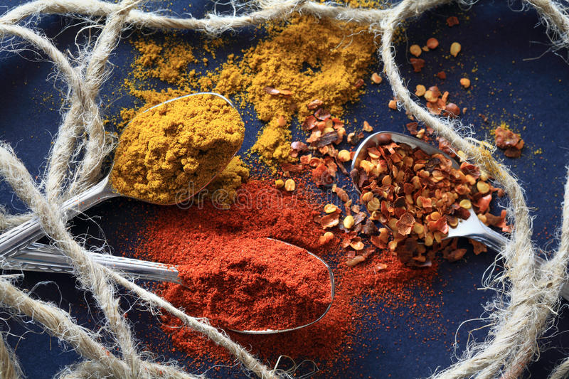 Spices for food royalty free stock image