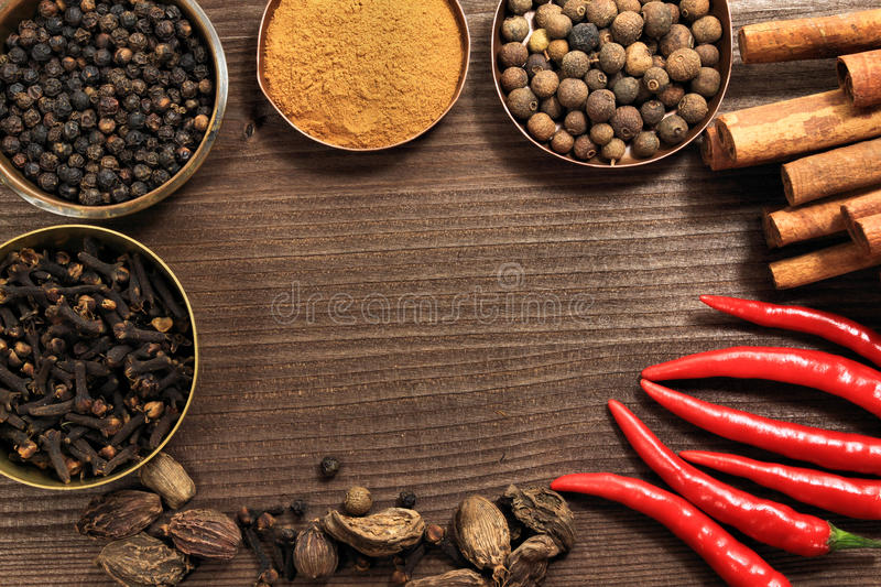 Download Spices frame stock image. Image of curried, decoration - 19625119