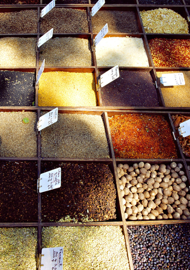 Spices in france stock photos
