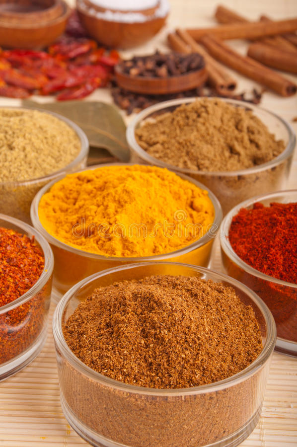 Download Spices and herbs stock photo. Image of ingredients, pepper - 19862618