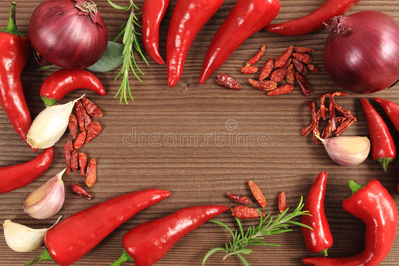 Spices and herbs. Pepper spices selection. Food ingredients and aromatic additives royalty free stock images