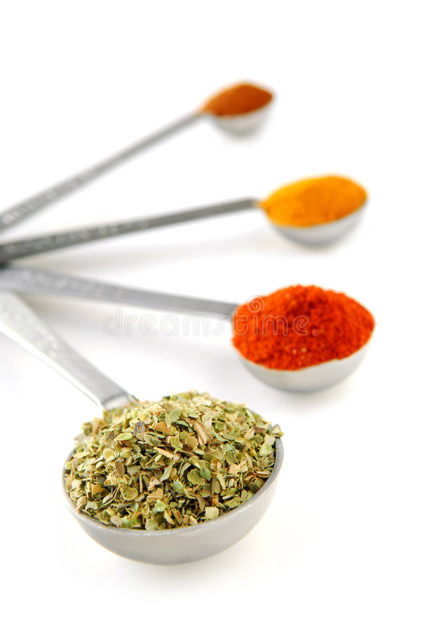 Free Spices In Measuring Spoons Royalty Free Stock Photography - 4004717