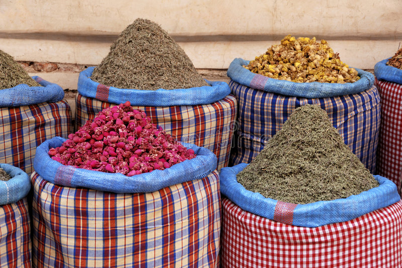 Download Spices At The Market In The Souk Stock Photo - Image: 8724388
