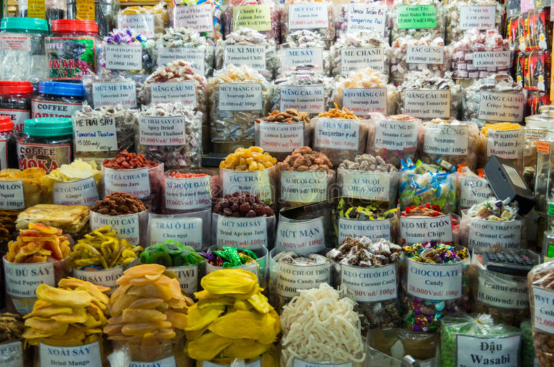 Spices And Nuts In A Vietnamese Market Editorial Photography ...