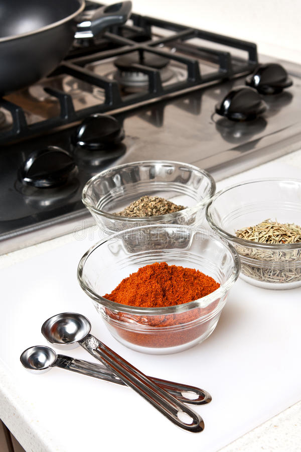 Download Spices used in Cooking stock image. Image of spoons, pepper - 22953605