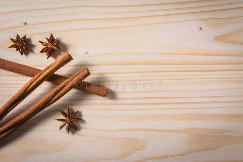 Spices on wooden table. backgrouns. Spices on wooden table. texture stock image
