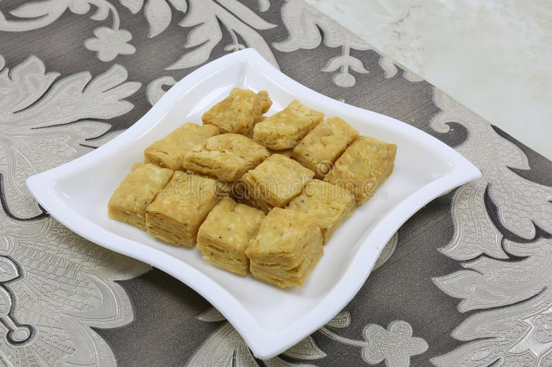 SPICEY CRUNCHY NAMKEEN SNACKS FRIED stock images