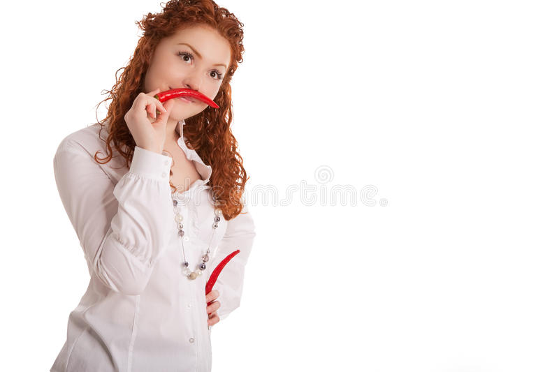 Download Spicy? stock photo. Image of isolated, lifted, shoot - 15415328