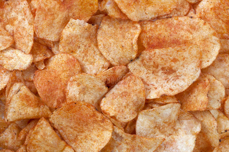 Download Spicy Barbecue Flavored Potato Chips Stock Image - Image of cutout, crunchy: 28325079