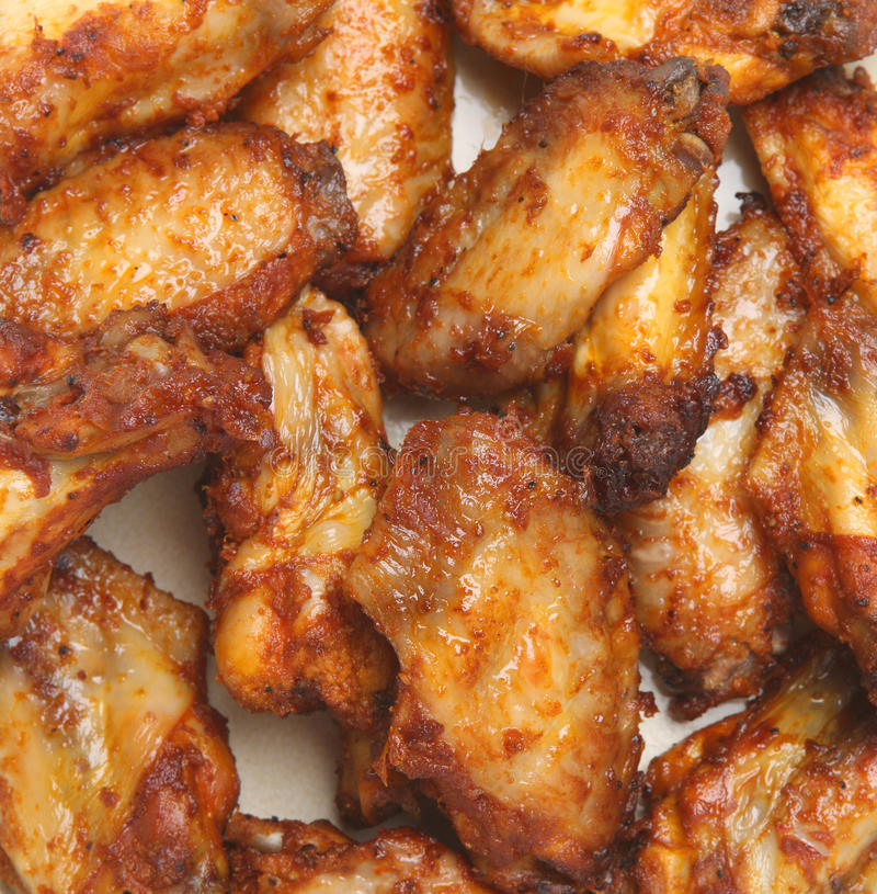 Spicy BBQ Chicken Wings royalty free stock photo