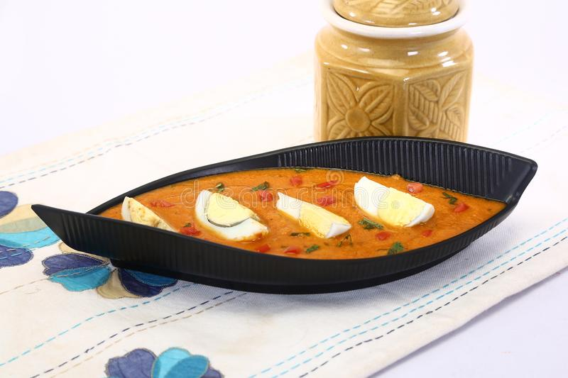 Spicy Boiled Egg Curry, Indian Dish stock photos