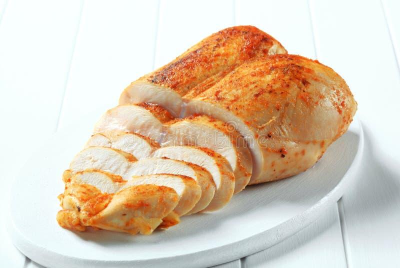 Spicy chicken breast stock photos
