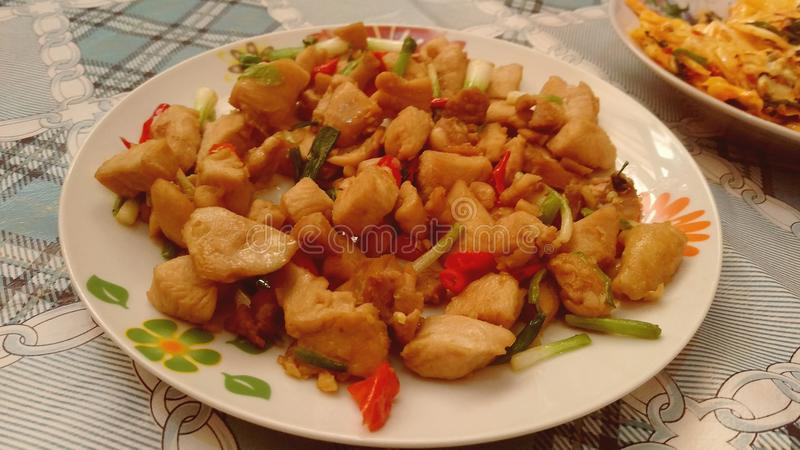 Spicy chicken Chinese royalty free stock images