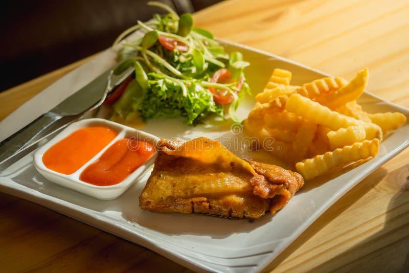 Spicy Chicken Steak stock images
