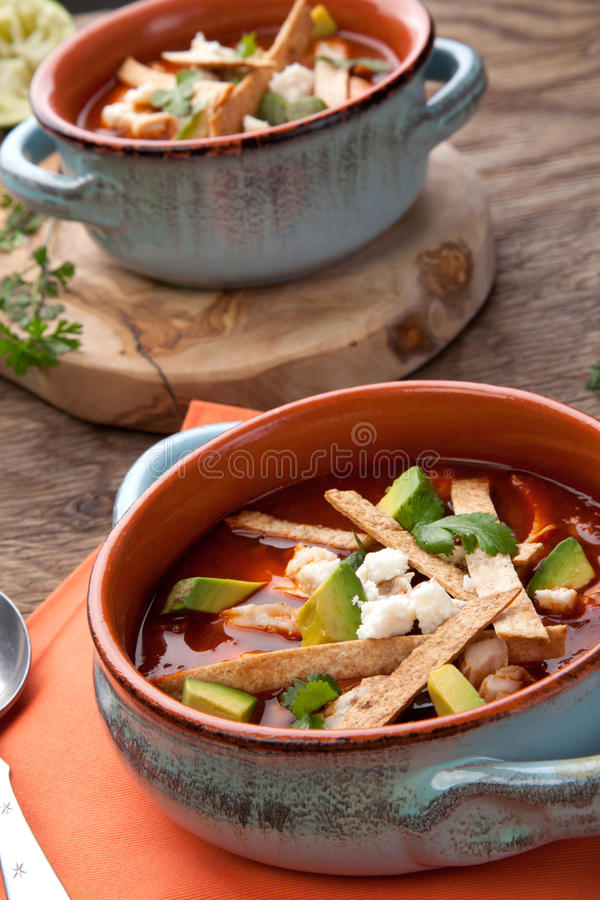 Download Spicy Chicken Tortilla Soup Stock Image - Image: 92006807
