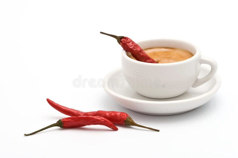 Spicy coffee stock photography