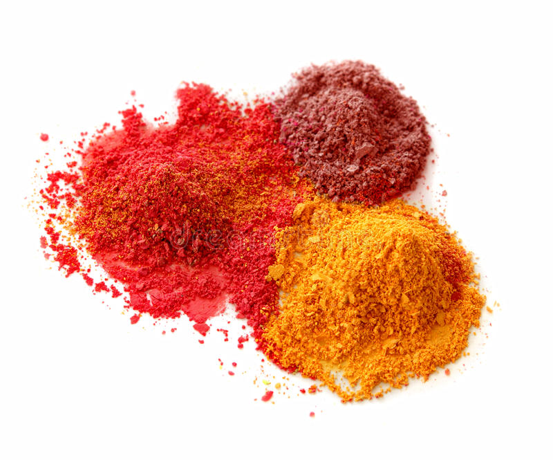 Download Spicy color powders stock image. Image of white, background - 19627645