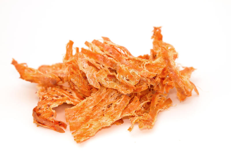 Spicy dried squid,isolate stock images