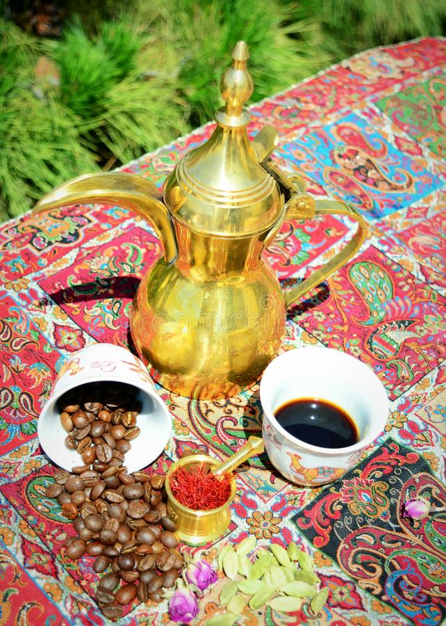 Spicy exotic arabian coffee stock photography