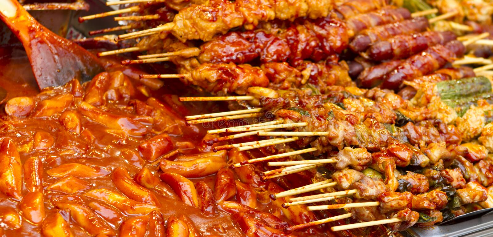 A spicy fast food. Simply found at local Korean martket, Soul Korea stock image