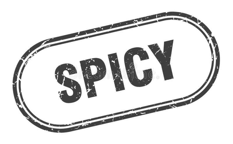 Spicy stamp. Spicy grunge vintage stamp isolated on white background. spicy. sign royalty free illustration