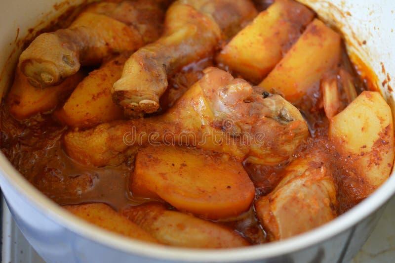 Download Spicy korean chicken stew stock photo. Image of chicken - 64230762