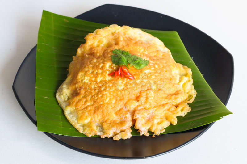 Download Spicy Omelet  On Banana Leaf Stock Image - Image of food, omelet: 40363209