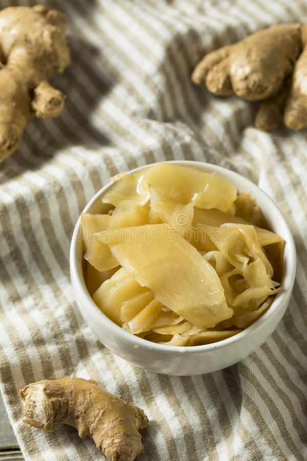 Spicy Pickled White Ginger stock photo
