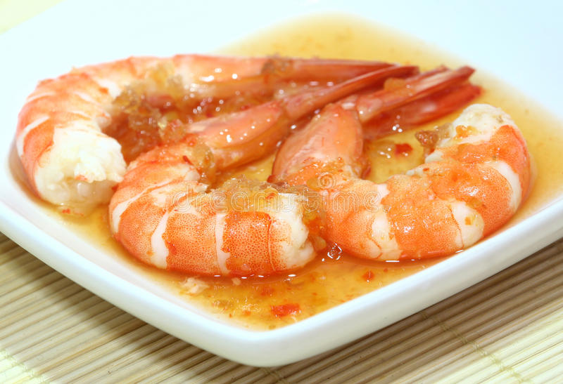 Spicy Prawns stock photography