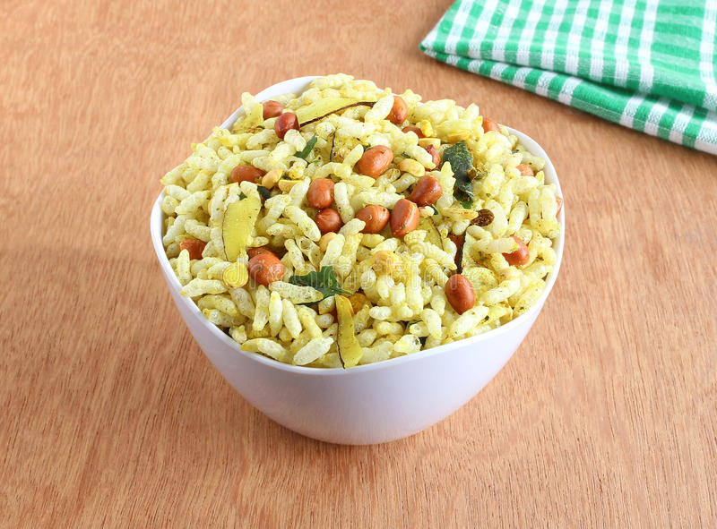 Spicy Puffed Rice royalty free stock photos