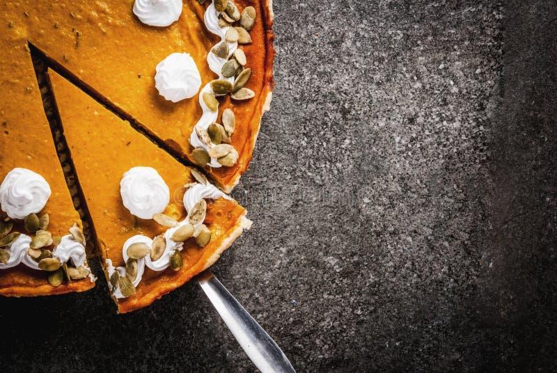 Spicy pumpkin pie stock photo