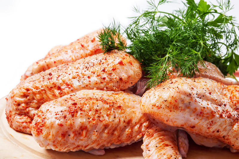 Spicy Raw Chicken Stock Photo