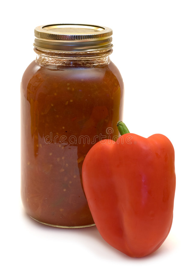 Download Spicy Salsa stock image. Image of spicy, isolated, homemade - 6199945