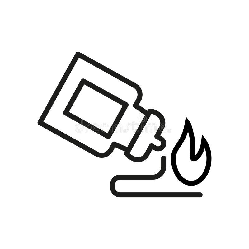 Spicy sauce for pizza or other dishes. Monochrome icon stock illustration