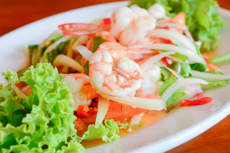 Spicy seafoods royalty free stock images