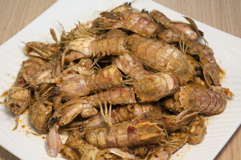 Spicy shrimp stock image