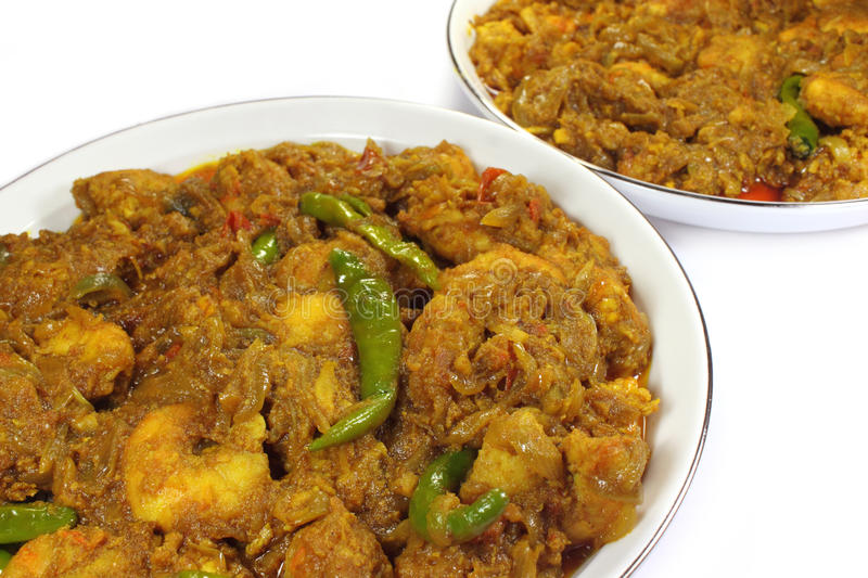 Spicy Shrimp Curry Royalty Free Stock Images