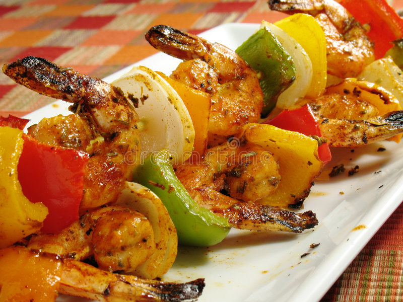 Download Spicy Shrimp Kabobs stock photo. Image of healthy, seasoned - 5697996