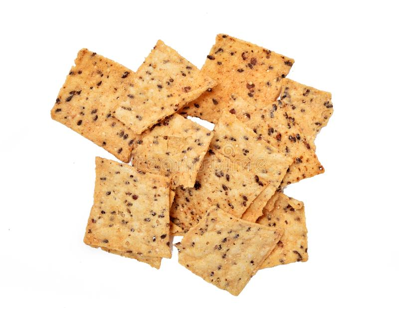Spicy sprouted tortilla chips royalty free stock image