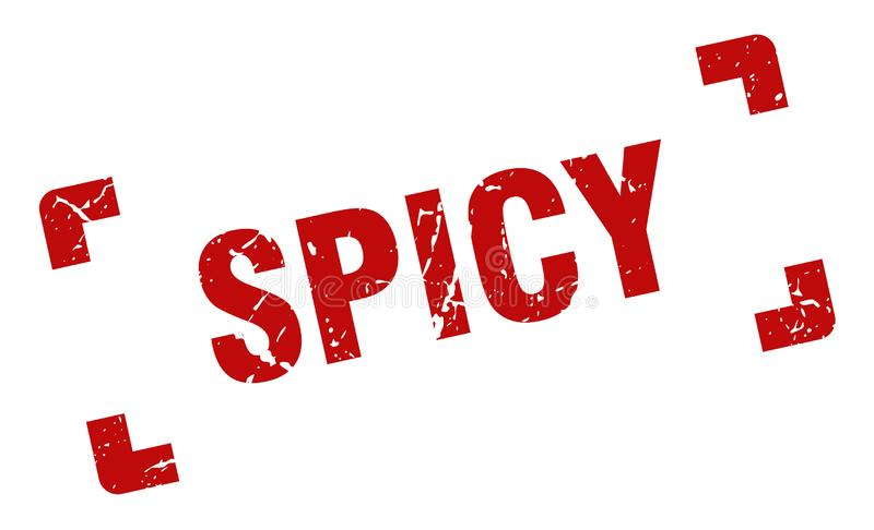 Spicy stamp. Spicy grunge vintage stamp isolated on white background. spicy. sign vector illustration
